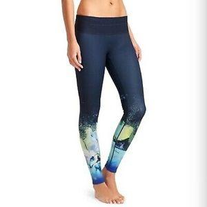 Athleta dark navy patterned leggings